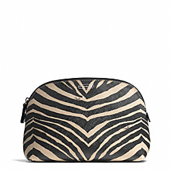 ZEBRA PRINT COSMETIC CASE COACH F50658