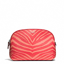 COACH ZEBRA PRINT COSMETIC CASE - ONE COLOR - F50658