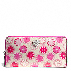 FLORAL PRINT ACCORDION ZIP WALLET - f50672 - 26703