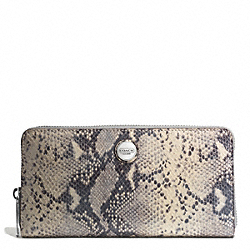 COACH TAYLOR EXOTIC ACCORDION ZIP AROUND - ONE COLOR - F50674