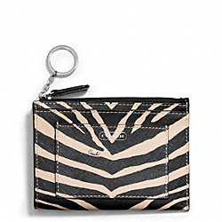COACH ZEBRA PRINT MEDIUM SKINNY - ONE COLOR - F50678