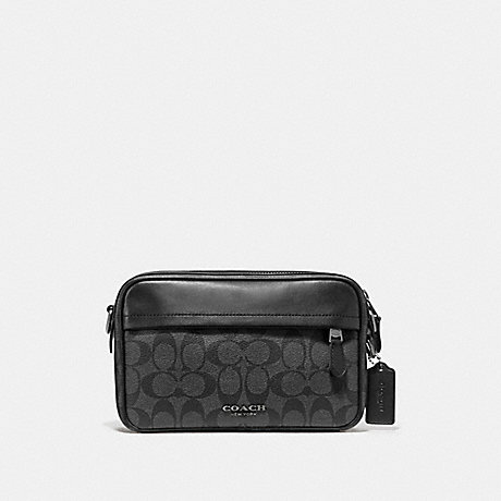 COACH GRAHAM CROSSBODY IN SIGNATURE CANVAS - CHARCOAL/BLACK/BLACK ANTIQUE NICKEL - F50715
