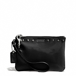 COACH STUDDED LIQUID GLOSS SMALL WRISTLET - SILVER/BLACK - F50729