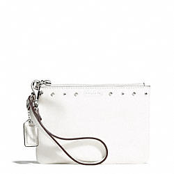 COACH STUDDED LIQUID GLOSS SMALL WRISTLET - SILVER/IVORY - F50729