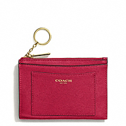 COACH SAFFIANO LEATHER MEDIUM SKINNY - BRASS/SCARLET - F50732