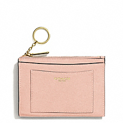 COACH SAFFIANO LEATHER MEDIUM SKINNY - LIGHT GOLD/PEACH ROSE - F50732