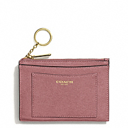 COACH SAFFIANO LEATHER MEDIUM SKINNY - LIGHT GOLD/ROUGE - F50732