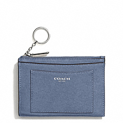 COACH SAFFIANO LEATHER MEDIUM SKINNY - SILVER/CORNFLOWER - F50732