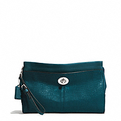 COACH AVERY EMBOSSED CROC LARGE CLUTCH - ONE COLOR - F50733