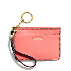 COACH DARCY LEATHER ID SKINNY - ONE COLOR - F50735