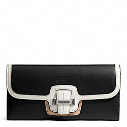 TAYLOR SPECTATOR LEATHER SLIM ENVELOPE COACH F50738