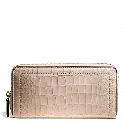 COACH AVERY EMBOSSED CROC ACCORDION ZIP WALLET - ONE COLOR - F50750