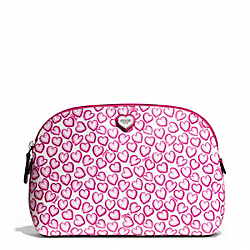 HEART PRINT COSMETIC CASE COACH F50772