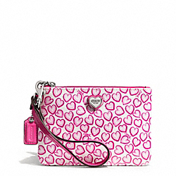HEART PRINT SMALL WRISTLET COACH F50773