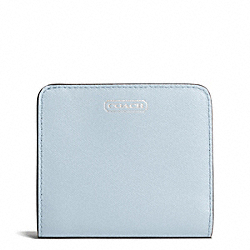 COACH DARCY LEATHER SMALL WALLET - SILVER/SKY - F50780
