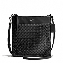 COACH MADISON OP ART PEARLESCENT NORTH/SOUTH SWINGPACK - ONE COLOR - F50834