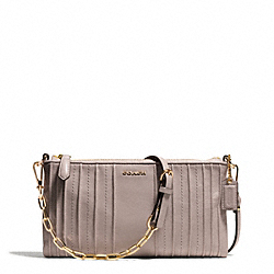 COACH MADISON PINTUCK LEATHER KYLIE CROSSBODY - ONE COLOR - F50837