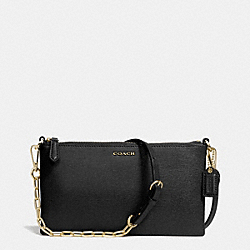 KYLIE CROSSBODY IN SAFFIANO LEATHER - f50839 -  BRASS/BLACK