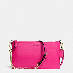KYLIE CROSSBODY IN SAFFIANO LEATHER - f50839 -  LIGHT GOLD/PINK RUBY