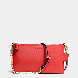 COACH KYLIE CROSSBODY IN SAFFIANO LEATHER - LIGHT GOLD/LOVE RED - F50839