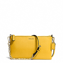 COACH KYLIE SAFFIANO LEATHER CROSSBODY - LIGHT GOLD/SUNGLOW - F50839