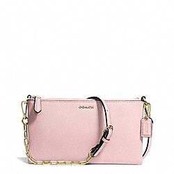 COACH KYLIE SAFFIANO LEATHER CROSSBODY - LIGHT GOLD/NEUTRAL PINK - F50839