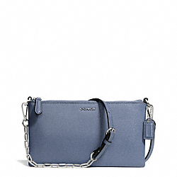 COACH KYLIE SAFFIANO LEATHER CROSSBODY - SILVER/CORNFLOWER - F50839