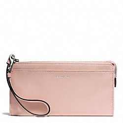 COACH BLEECKER LEATHER ZIPPY WALLET - ONE COLOR - F50860