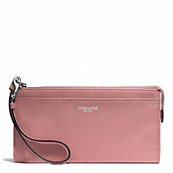 COACH BLEECKER LEATHER ZIPPY WALLET - SILVER/ROUGE - F50860