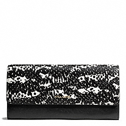 COACH MADISON TWO TONE PYTHON EMBOSSED LEATHER SLIM ENVELOPE WALLET - ONE COLOR - F50863