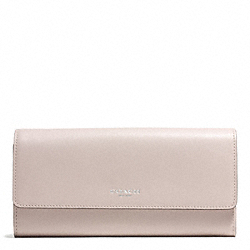 COACH BLEECKER LEATHER SLIM ENVELOPE WALLET - SILVER/GREY BIRCH - F50880