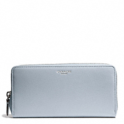 COACH BLEECKER LEATHER ACCORDION ZIP WALLET - SILVER/POWDER BLUE - F50891