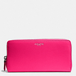 BLEECKER LEATHER ACCORDION ZIP WALLET - f50891 - SILVER/PINK RUBY