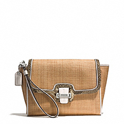 COACH TAYLOR CITY STRAW FLAP CLUTCH - ONE COLOR - F50929