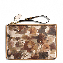 COACH BLEECKER FLAT ZIP CASE IN CAMO PRINT CANVAS - ONE COLOR - F50940