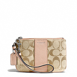 COACH SIGNATURE SMALL WRISTLET - SILVER/LT KHAKI/PEACH ROSE - F50941