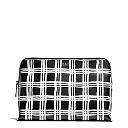 COACH BLEECKER  PAINTED PLAID PRINT COSMETIC CASE - ONE COLOR - F50958
