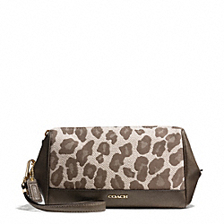COACH MADISON OCELOT JACQUARD ZIP TOP LARGE WRISTLET - ONE COLOR - F50986