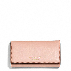 COACH SAFFIANO LEATHER 4 RING KEY CASE - ONE COLOR - F51001