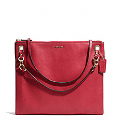 COACH MADISON LEATHER CONVERTIBLE HIPPIE - LIGHT GOLD/SCARLET - F51011