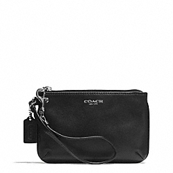 COACH BLEECKER LEATHER SMALL WRISTLET - ONE COLOR - F51084