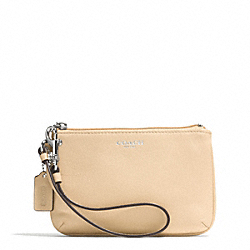 BLEECKER LEATHER SMALL WRISTLET - f51084 - SILVER/TAN