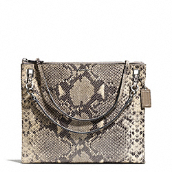 COACH MADISON EMBOSSED PYTHON CONVERTIBLE HIPPIE - SILVER/MULTICOLOR - F51085