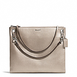 COACH MADISON METALLIC LEATHER CONVERTIBLE HIPPIE - SILVER/BRONZE - F51089