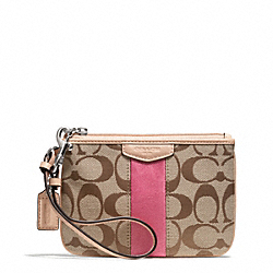 SIGNATURE STRIPE 12CM SMALL WRISTLET COACH F51106