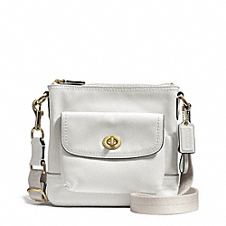 CAMPBELL LEATHER SWINGPACK - BRASS/IVORY - COACH F51107