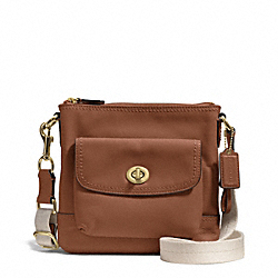 COACH CAMPBELL LEATHER SWINGPACK - BRASS/SADDLE - F51107