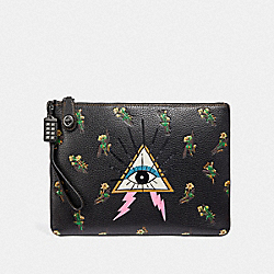 TURNLOCK WRISTLET 30 WITH PYRAMID EYE - V5/BLACK - COACH F51128