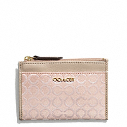 COACH MADISON OP ART PEARLESCENT FABRIC MINI SKINNY - ONE COLOR - F51131