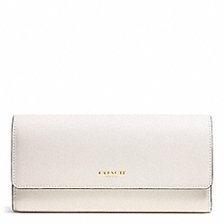 COACH SAFFIANO LEATHER SLIM ENVELOPE WALLET - LIGHT GOLD/PARCHMENT - F51133